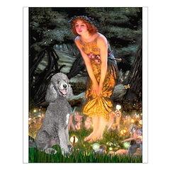 Midsummer/Std Poodle (silver) Posters