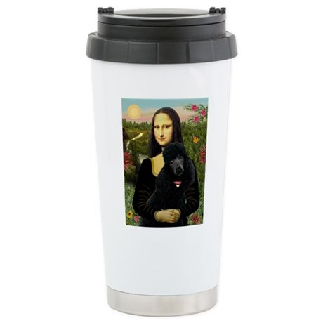 Mona / Std Poodle (bl) Stainless Steel Travel Mug