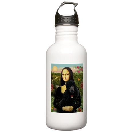 Mona / Std Poodle (bl) Stainless Water Bottle 1.0L
