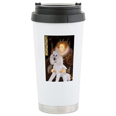 Queen / Std Poodle(w) Stainless Steel Travel Mug