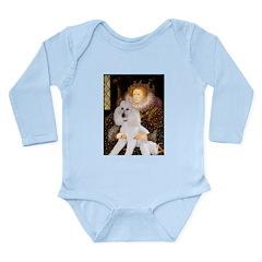 Queen / Std Poodle(w) Long Sleeve Infant Bodysuit
