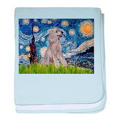 Starry / Std Poodle (s) baby blanket