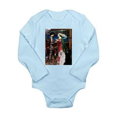 Tristan / 2 Poodles(b&w) Long Sleeve Infant Bodysu