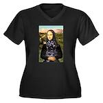 Mona Lisa's PWD (5) Women's Plus Size V-Neck Dark