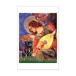 Mandolin Angel / Black Pug Mini Poster Print