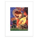 Mandolin Angel / Black Pug Small Poster