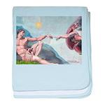 Creation / Fawn Pug baby blanket