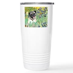 Irises / Pug Travel Mug