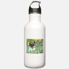 Irises / Pug Water Bottle