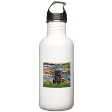 Lilies (#2) & Black Pug Water Bottle