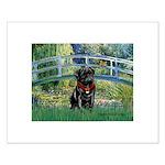 Bridge / Black Pug Small Poster