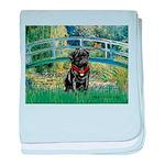 Bridge / Black Pug baby blanket