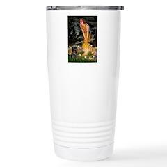 Fairies & Black Pug Travel Mug