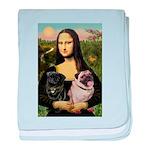Mona's 2 Pugs baby blanket