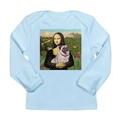 Mona's Fawn Pug (#2) Long Sleeve Infant T-Shirt