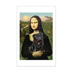 Mona's Black Pug Mini Poster Print