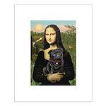 Mona's Black Pug Small Poster