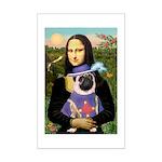 Mona & Sir Pug Mini Poster Print