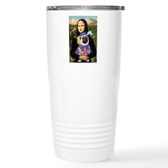 Mona & Sir Pug Travel Mug