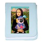 Mona & Sir Pug baby blanket