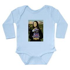 Mona & Sir Pug Long Sleeve Infant Bodysuit