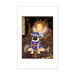 Queen-Sir Pug (17) Mini Poster Print