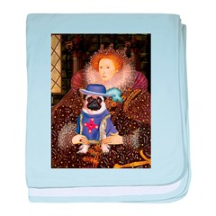Queen-Sir Pug (17) baby blanket