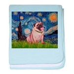 Starry Night and Pug baby blanket