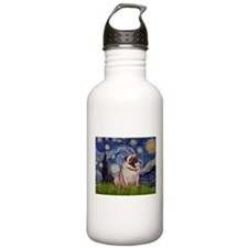 Starry Night and Pug Water Bottle