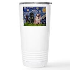 Starry Night / 2 Pugs Travel Mug