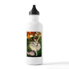 Dancer / 2 Pugs Water Bottle