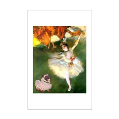 Dancer 1 & fawn Pug Posters