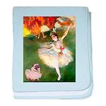 Dancer 1 & fawn Pug baby blanket
