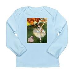 Dancer 1 & fawn Pug Long Sleeve Infant T-Shirt