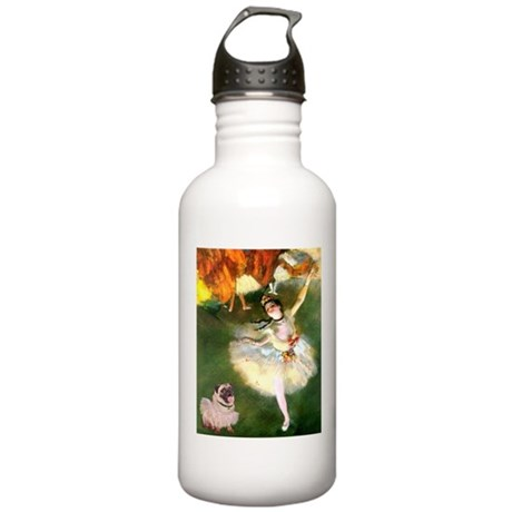 Dancer 1 & fawn Pug Stainless Water Bottle 1.0L