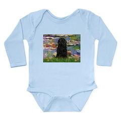 Water Lilies Long Sleeve Infant Bodysuit