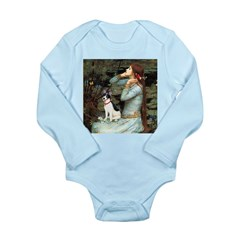 Ophelia / Rat Terrier Long Sleeve Infant Bodysuit