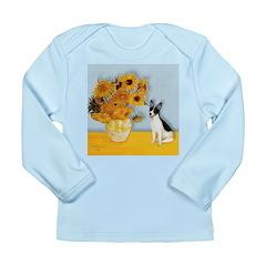 Sunflowers / Rat Terrier Long Sleeve Infant T-Shir