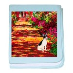 Path / Rat Terrier baby blanket
