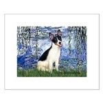 Lilies / Rat Terrier Small Poster