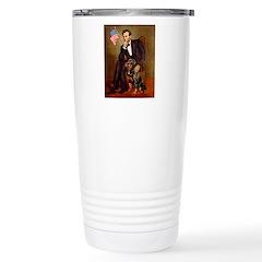 Lincoln's Rottweiler Stainless Steel Travel Mug