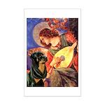 Mandolin Angel/Rottweiler Mini Poster Print