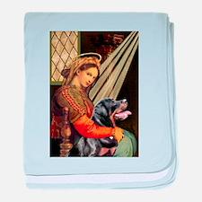 Madonna/Rottweiler baby blanket