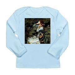 Ophelia/Rottweiler Long Sleeve Infant T-Shirt