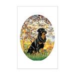 Spring / Rottweiler Mini Poster Print