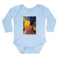 Cafe & Rottweiler Long Sleeve Infant Bodysuit