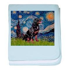 Starry/Rottweiler (#6) baby blanket