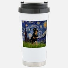 Starry Night Rottweiler Stainless Steel Travel Mug
