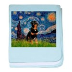 Starry Night Rottweiler baby blanket