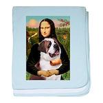 Mona / Saint Bernard baby blanket